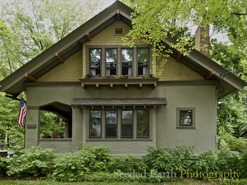 A craftsman bungalow seeded earth photo for Craftsman style homes for sale near me
