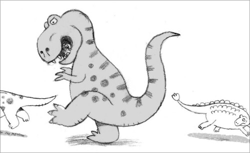"sketch for ""I'm a T-Rex!"""