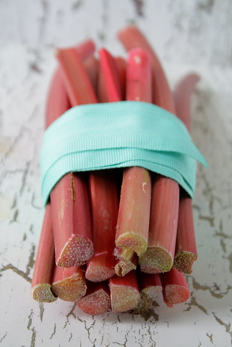 Rhubarb bunch in blue