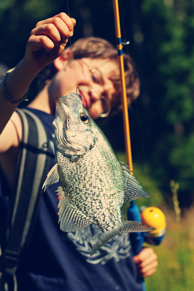 caleb and fish closeup