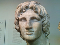 Alexander the Great portrait half profile
