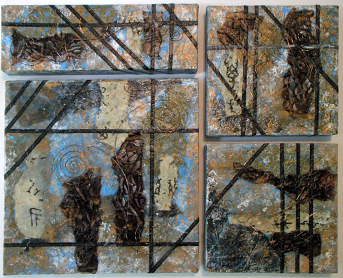 each day collage/mixed media (c) 2009, Lynne Medsker