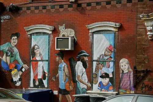 A passing mural