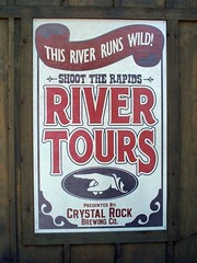 Cedar Point - Shoot the Rapids River Tours Sign