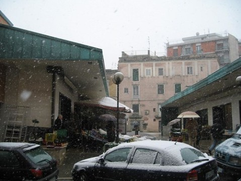 Snow in Matera