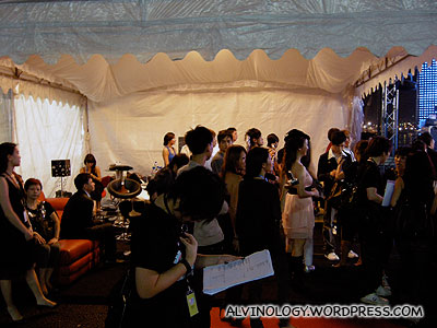 The artistes holding tent beside the stage where I was stationed