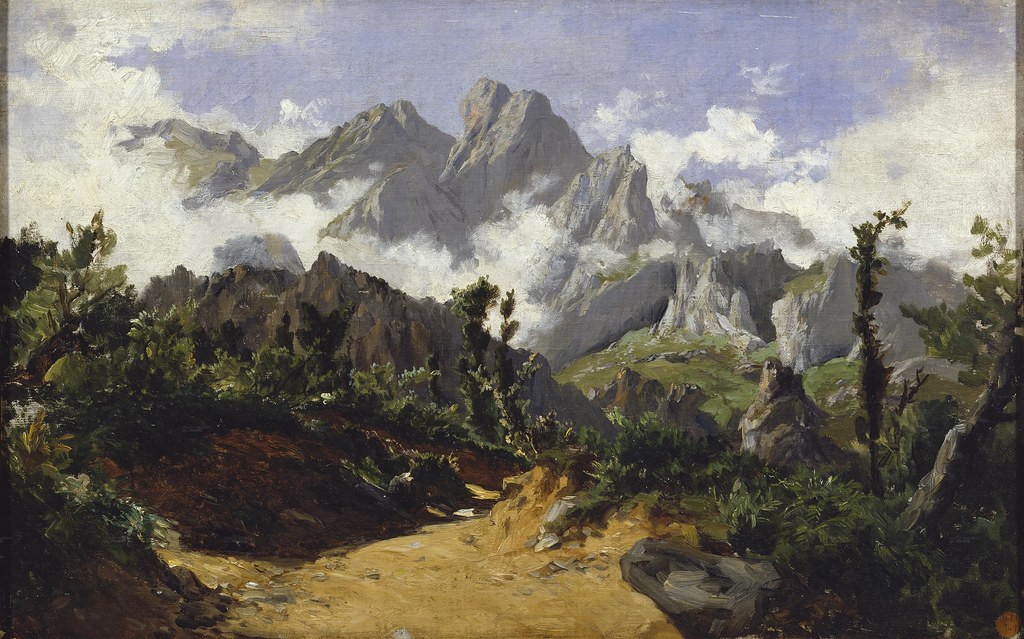 Carlos de Haes (Brussels, 1826-1898) Picos de Europa (c. 1875) Oil on panel. 37 x 59 cm. Museo Nacional del Prado, Madrid.