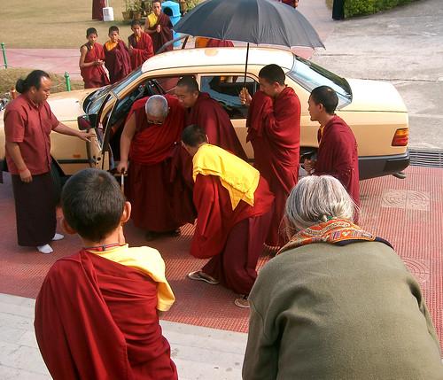 Mindrolling.  Llegada de Taklung Tsetrul Rimpoche.
