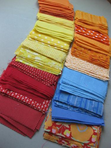 beginnings of a quilt
