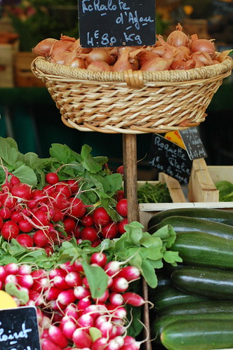 Fresh produce at Marche Place D'Aligre, Paris