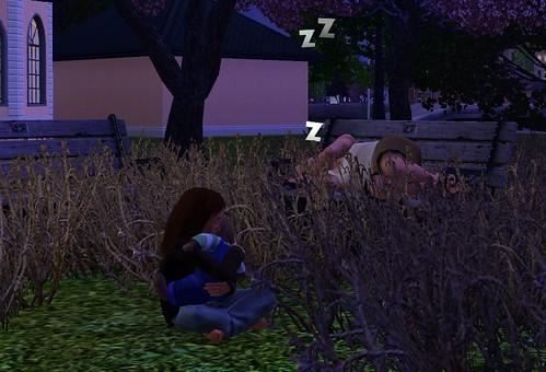 Alice & Kev sleep under the stars