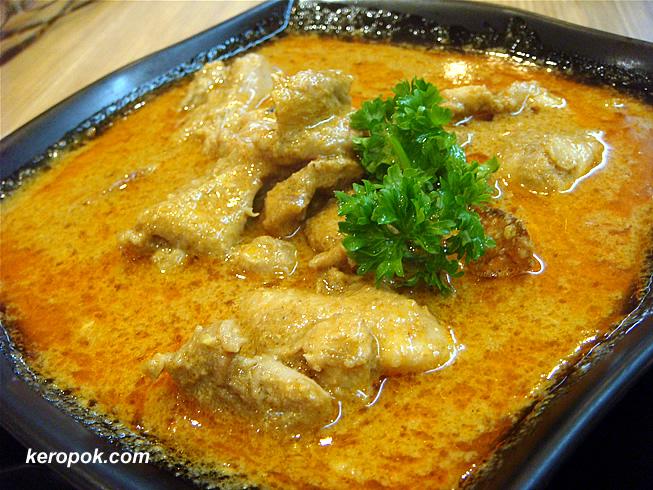 Err, curry chicken.