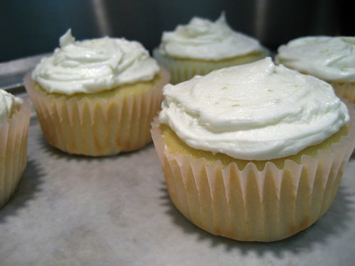 coconut cupcakes with lime butter cream frosting