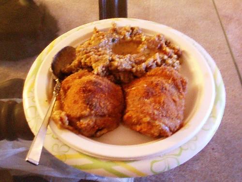 Baked Chicken with Stuffing & Chicken Gravy