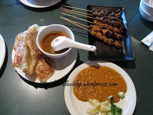 roti canai and satay