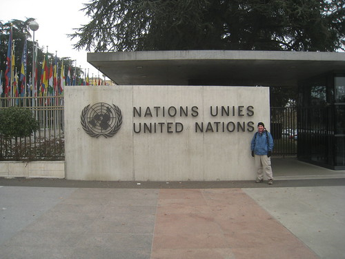 Outside the United Nations' Headquarters in Europe