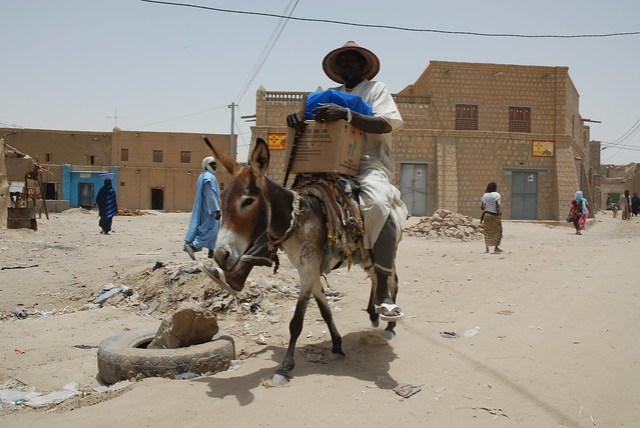 Timbuktu Street Scene, Mali, W. Africa