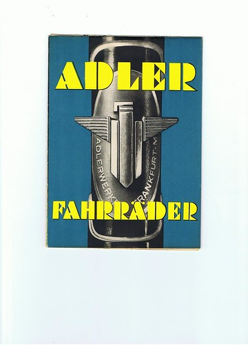 Adler bicycles 1937