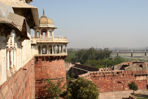 View over the river from Agra Fort 1
