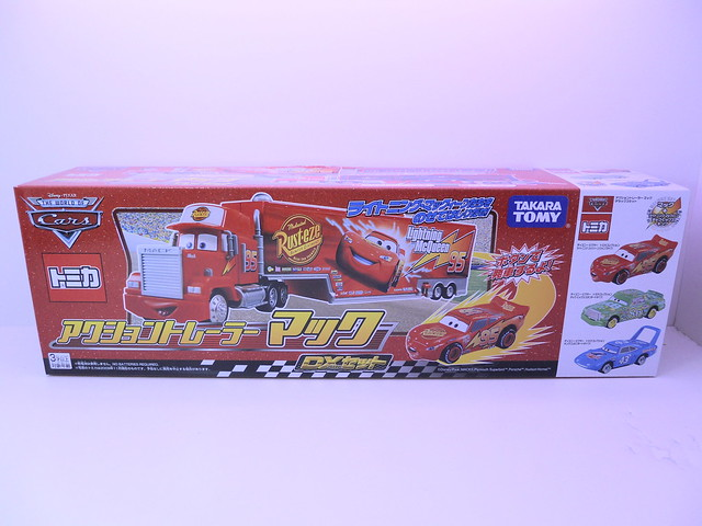 tomica disney cars mack,king,chick hicks,tongue mcqueen combo (1)