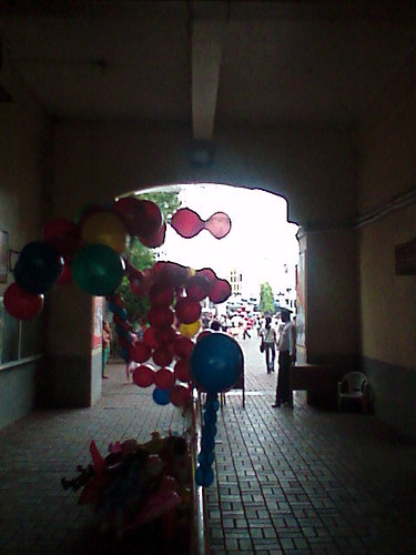 balloons at sto. nino