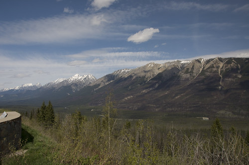 Sinclair Pass as viewed from Kootenay Valley Viewpoint