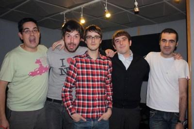 Con Javi, Santi y Álvaro de Templeton