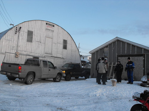 Hillier Sawmill, and Aarons shed with the crowd.