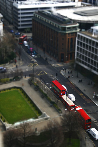 Tilt shift, london buses