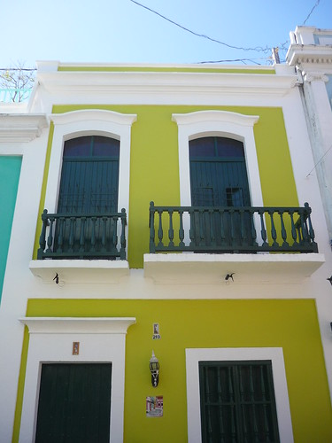 Lime-green building