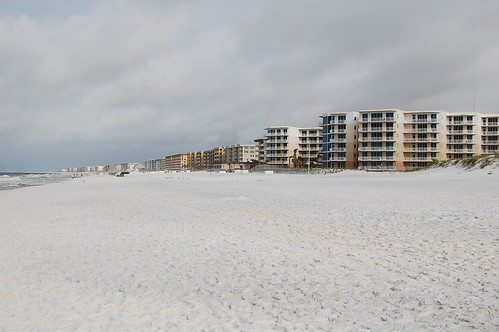The beach in the morning.