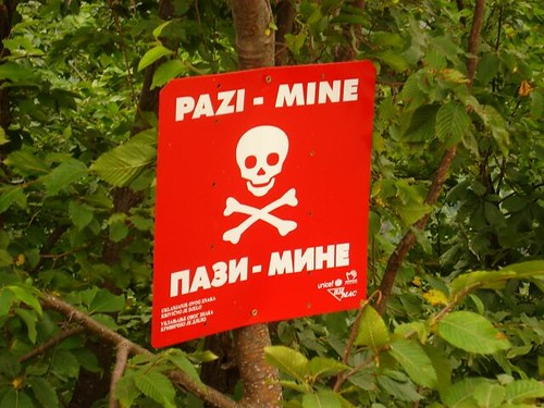 Unexploded land mines still dot the area surrounding the city, an unfortunate reality for those living there.