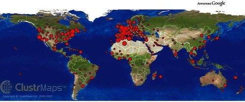 ClustrMaps - map of visitor locations - zoom map by you.