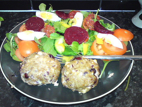 Turkey Cranberry and Feta Burgers