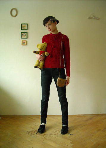 new sweater with pompons