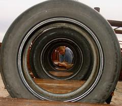 Child through the tires