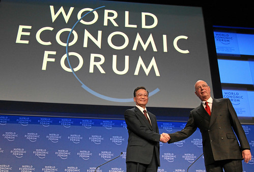 Wen Jiabao, Klaus Schwab - World Economic Forum Annual Meeting Davos 2009