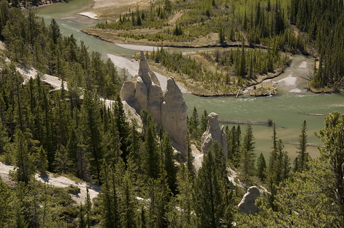 The Hoodoos - natural stone sculptures at Banff in Bow Valley region