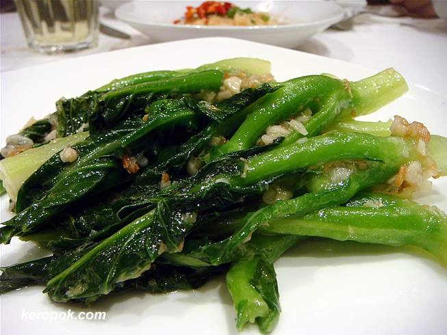 Kai Lan with garlic