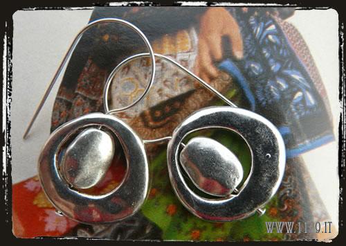 Orecchini argentati - Silver earrings IECIFR