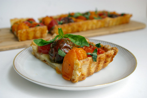 Tomato Tart and slice