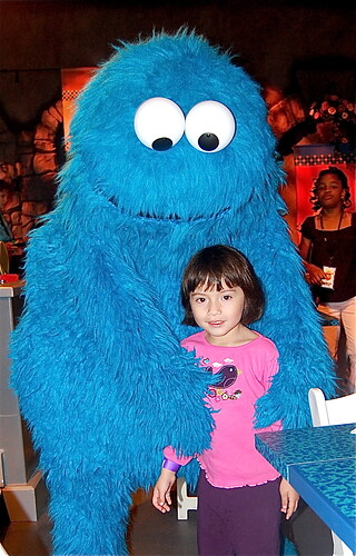 a big hug from Cookie Monster