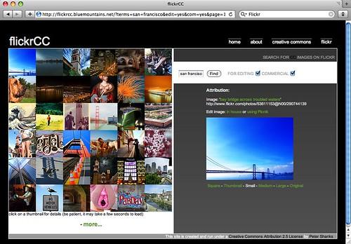 flickrCC Screenshot