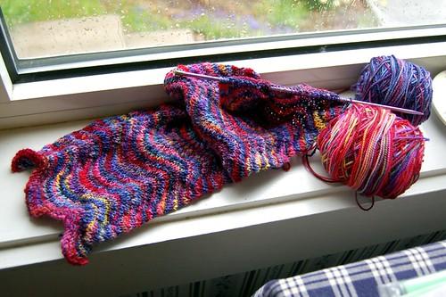 Chevron scarf WIP