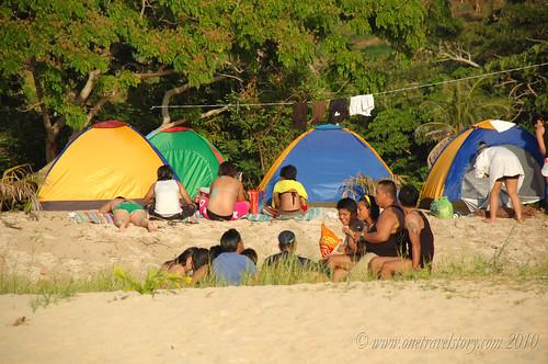 Camping, Calaguas Island, Camarines Norte