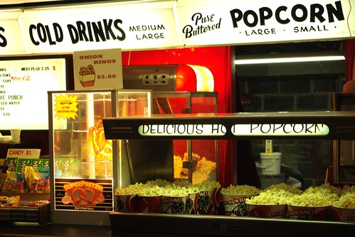 Cold Drinks, Pure Buttered Popcorn