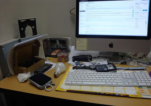 Messy desk is messy!