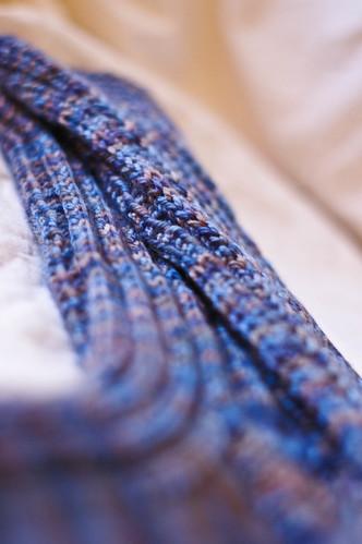 slipped stitch rib socks