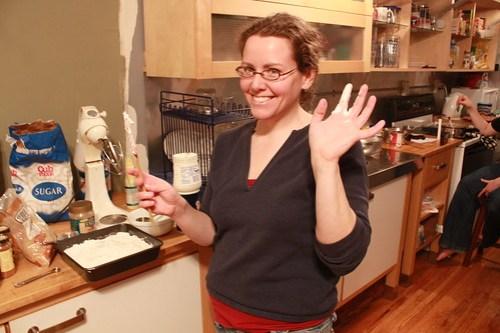 Jess preparing s'mores cookies