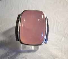 Rose Quartz Square Ring